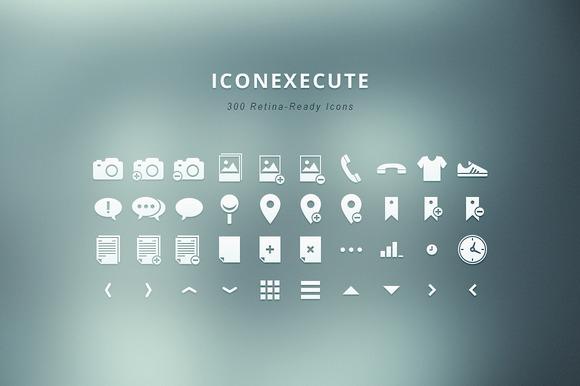 IconExecute 300 Retina-Ready Icons