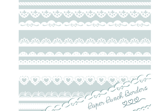 Paper Punch Borders Lace Clip Art