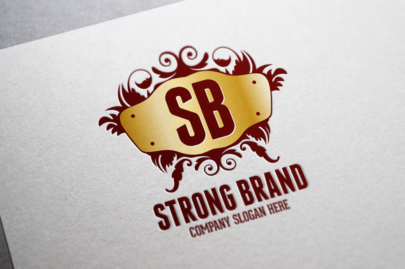 Strong Brand Logo Template