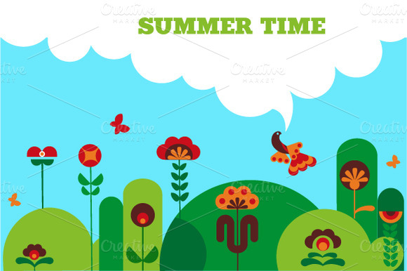Green Summer Modern Illustration