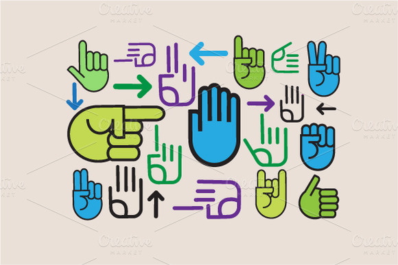 Hands Vector Set