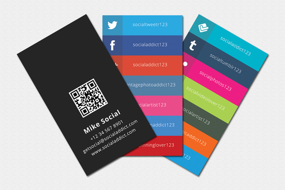 Social Addict Business Card Template