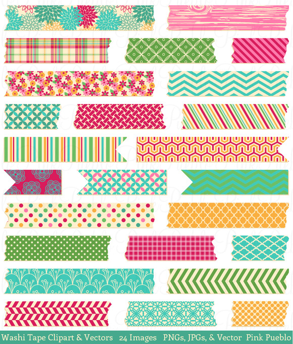 Washi Tape Clipart Vectors