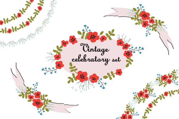 Vintage Celebratory Set