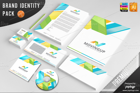 3D Arrows Marketing Corporate ID