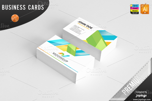 3D Arrows Marketing Business Cards