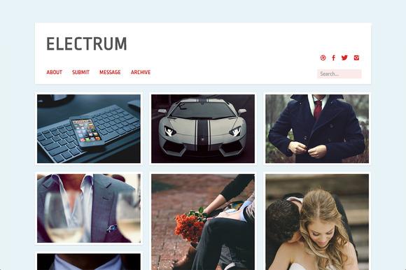Electrum Grid Style Tumblr Theme