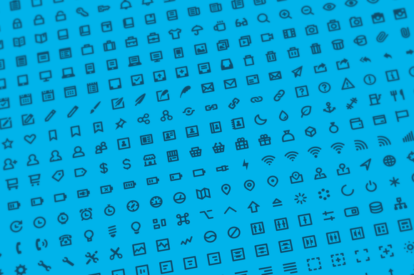 500 Stroke Icons Font