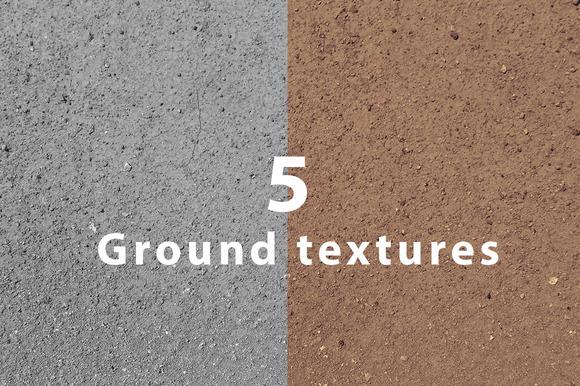 5 Hi-res Ground Textures