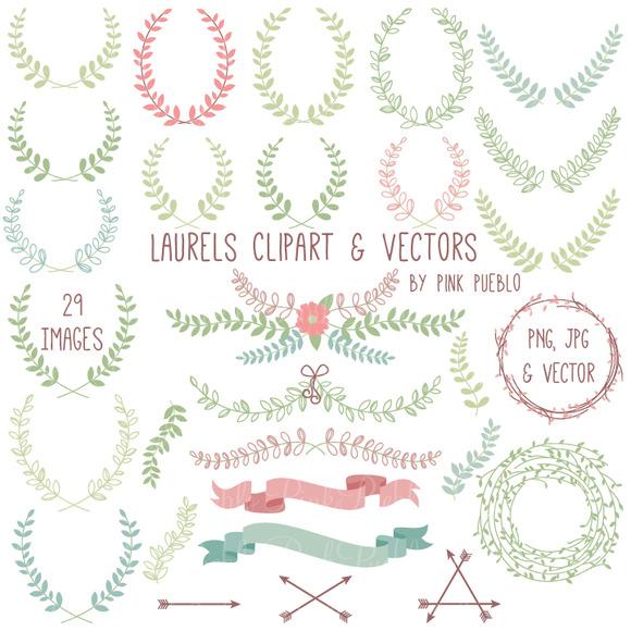 Laurel Clipart And Vectors