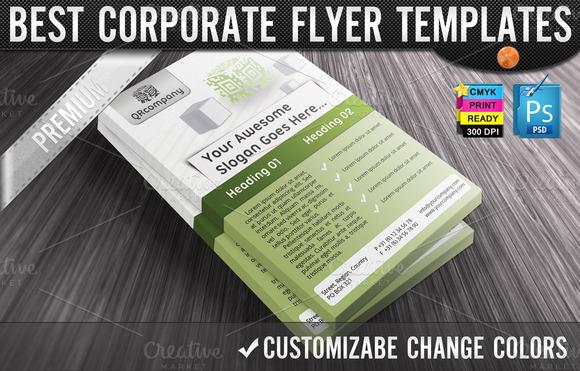 QR Codes 3D Boxes Business Flyers