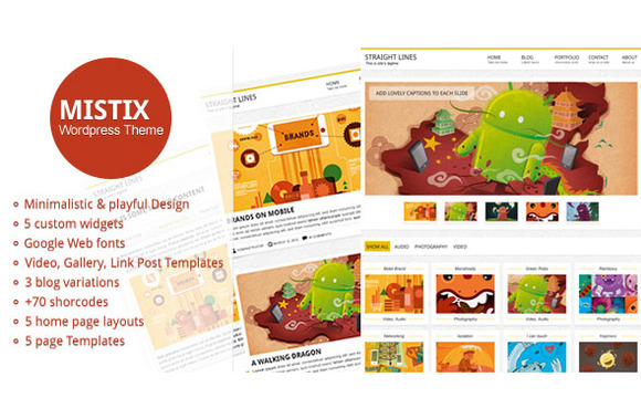 Mistix A Minimal Wordpress Theme