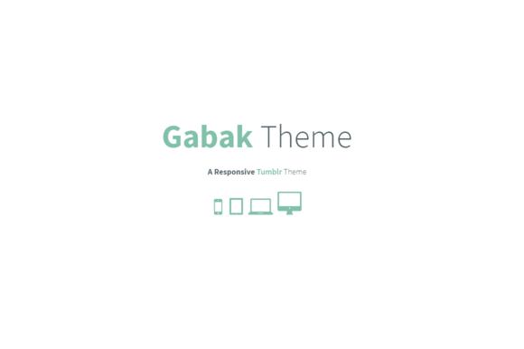 Gabak Responsive Tumblr Theme