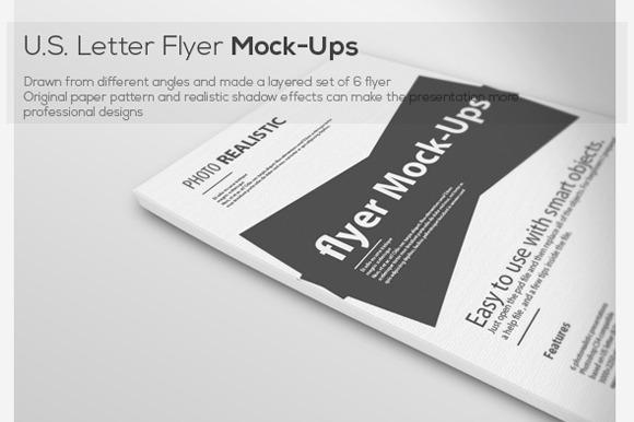 U.S Letter Flyer Mock-Ups