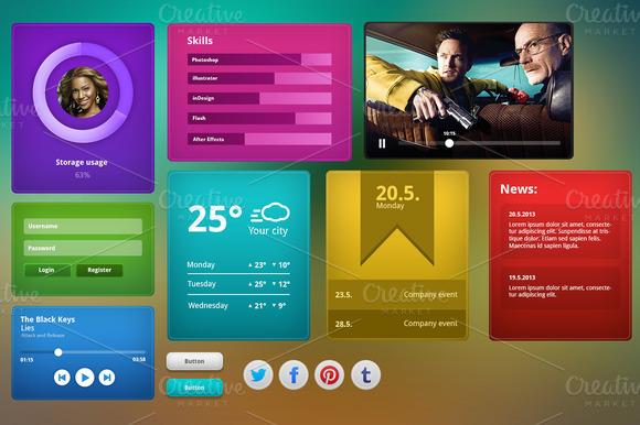 Modern UI Kit PSD