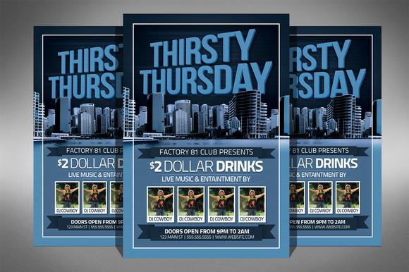 Thirsty Thursday Club Flyer