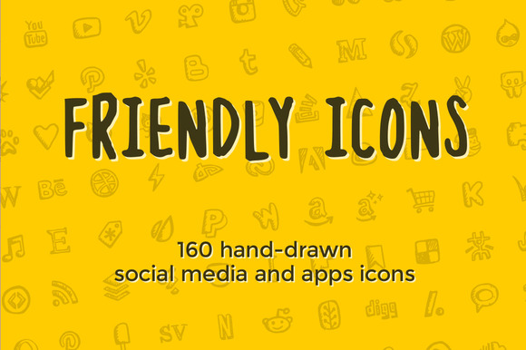 Friendly Icons 160 Social Icons