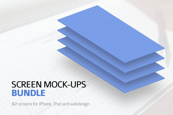67 Screen Mock-ups Bundle