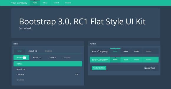 Bootstrap 3.0.v Theme Flat Dark UI