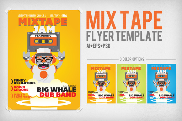 Mix Tape Flyer Template
