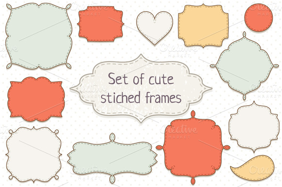 Set Of Stitched Frames