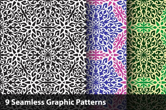 Graphic Seamless Pattern Set