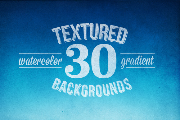 30 Flat Watercolor Textures