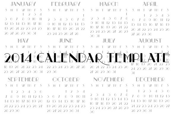 Calendar Template 2014