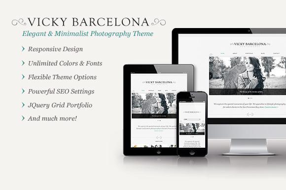 Vicky Barcelona Elegant Portfolio