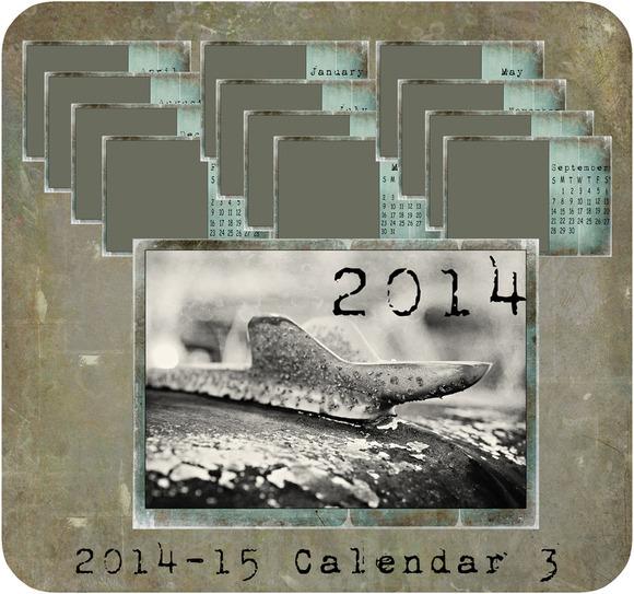 2014-2015 Calendar 4x6