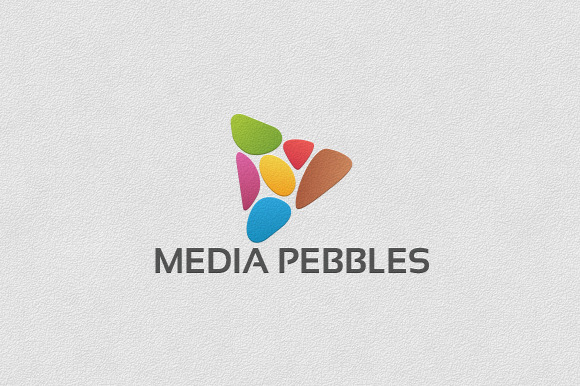 Media Pebbles Logo Template