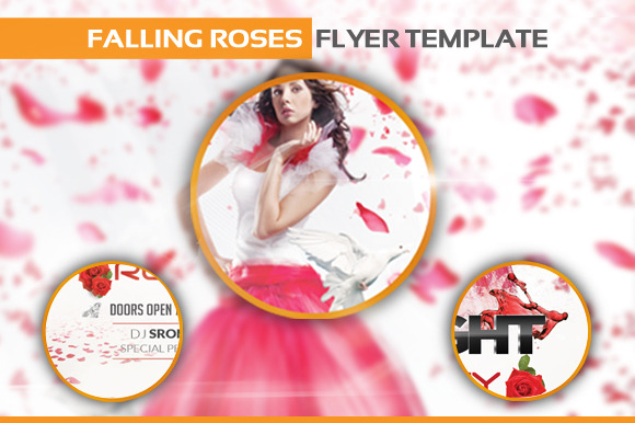 Falling Roses Flyer Template