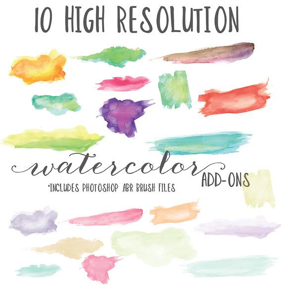 Ten High Res ABR Watercolors