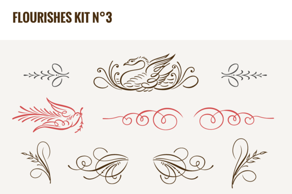 Flourishes Vector Kit NЎг3