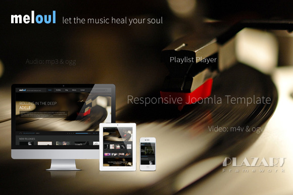 Meloul Music Joomla Template