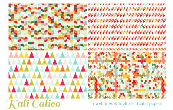 Kali Calico 4 Web Tiles Digi Paper