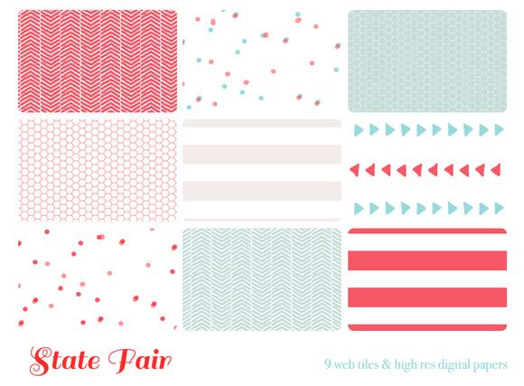 State Fair 9 Web Tiles Digi Paper
