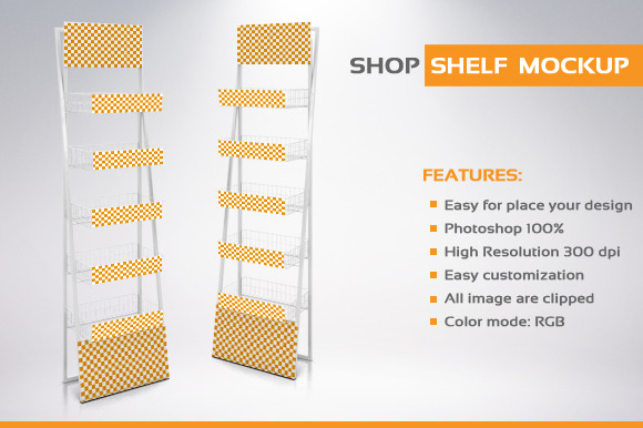 Shop Shelf Mockup
