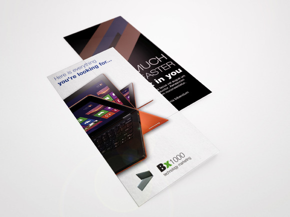 Laptop Tri-Fold Brochure