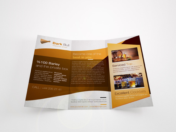 Beverage Trifold Brochure