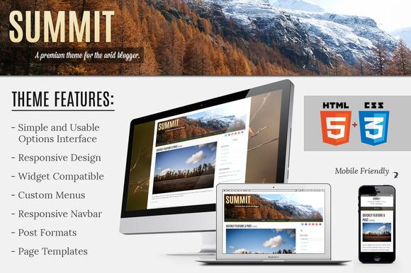 Summit Responsive Blogging Theme