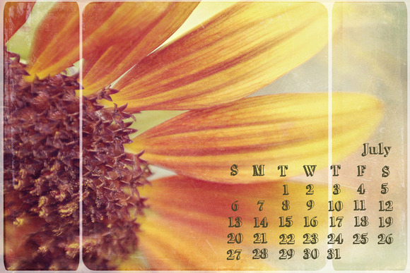 2014 Grungy Calendar Photoshop Brush