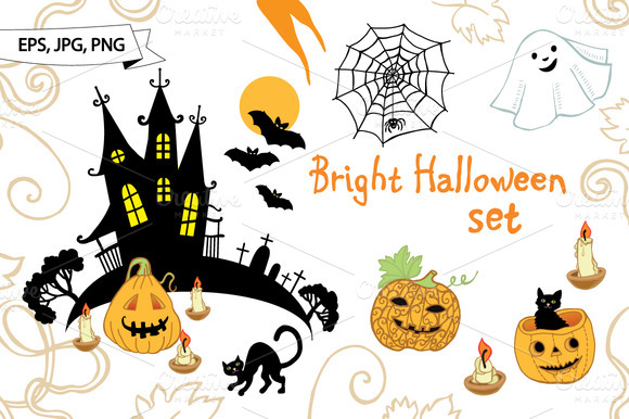 Bright Halloween Set