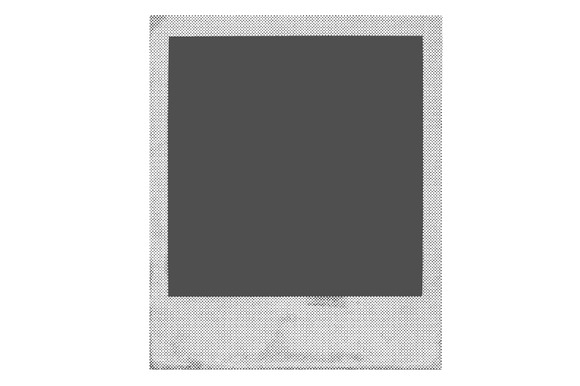 Halftone Polaroid Film Vector