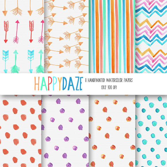 Happy Daze Watercolor Paper Set