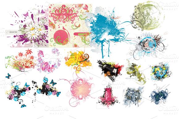 78 Various Flower Vector Mix