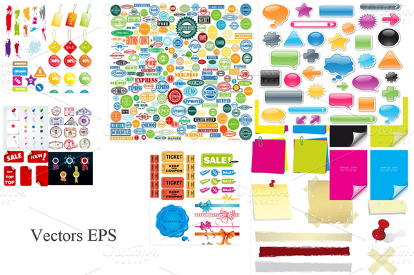 68 EPS Mega Stickers And Labels