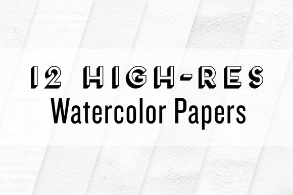 12 High-Res Watercolor Papers