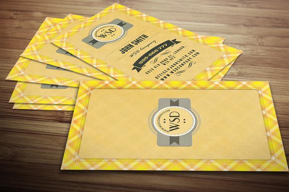 Retro Tartan Business Card