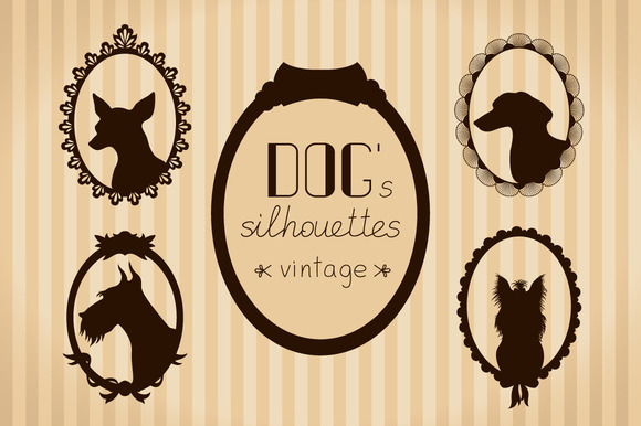 Vintage Dog S Silhouettes In Frames